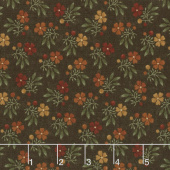 Nature's Glory - Fall Bouquet Brown Yardage