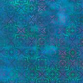 Tapestry - Medallion Blue Yardage