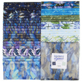 "Dragonfly Dance Blue Metallic 10"" Squares"
