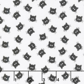 Costume Maker's Ball - Cat Buttons Cream Yardage