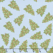 Cozy Critters - Trees Allover Blue Yardage