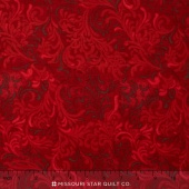 "Wilmington Essentials - Flourish Red 108"" Backing"