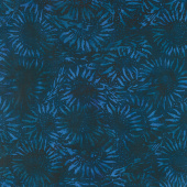 Countryside Batiks - Wheat Sunflower Navy Yardage