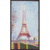 Seurat - Artist Series Eiffel Tower Multi Digitally Printed Panel