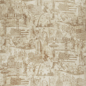 Stonehenge Stars and Stripes VI - US Landmarks Beige Yardage
