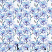 The Leah Collection - Small Magnolia Periwinkle Yardage