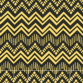 Sunny Days - Zig Zag Stripe Black Yellow Yardage
