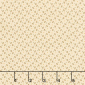 Esther's Heirloom Shirtings - Berry Sprigs Cream Yardage