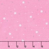 Twinkle Fairies - Sprinkled Stars Dawn Pink Yardage