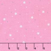 Twinkle Fairies - Sprinkled Stars Dawn Pink Yardage