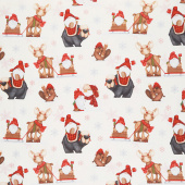 Timber Gnomies - Woodland Gnomes Cream Yardage