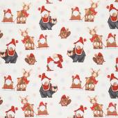 Timber Gnomies - Woodland Gnomes Cream Yardage