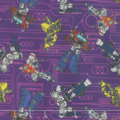 Transformers - Circuit in Purple Yardage