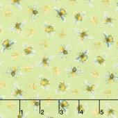 Bee My Sunshine - Queen Bee Green Yardage