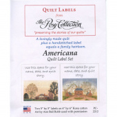 Americana Digitally Printed Quilt Labels