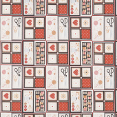 Sewing Mends the Soul - Sewing Patchwork Cream Yardage