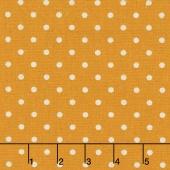 Linen Mochi Dot - Dot Golden Wheat Linen Yardage