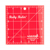 "Ruby Ruler - 5"" Square"