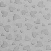 "Cuddle Embossed Heart - Silver 60"" Minky Yardage"