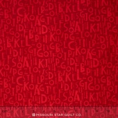 Logos - Alphabet Red Yardage
