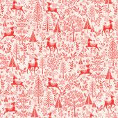 Scandi - Scenic Red Yardage