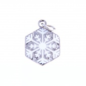 Snowflake Charm by Pin Peddlers