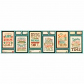 Sewing Mends the Soul - Sewing Phrases Patches Multi Panel