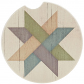 Quilt Car Coaster - Weave Star