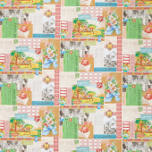 Flea Market Mix - Ephemera Collage Multi Yardage