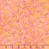 Whimsy Daisical - Small Daisy Orange Yardage