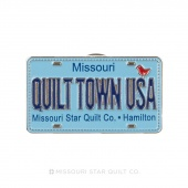 Quilt Town USA License Plate Row by Row Pin