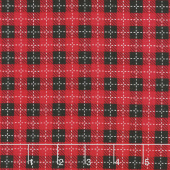 We Whisk You A Merry Christmas - Buffalo Plaid Black Red Yardage