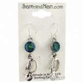 Green Cutter Earrings