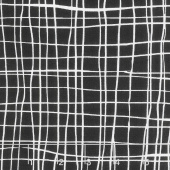 Pen and Ink - Grid Black Yardage