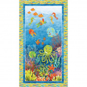 Undersea - Stonehenge Kids 3D Ocean Blue Multi Panel