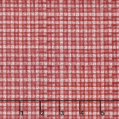 The Little Things - Dotted Plaid Natural/Red Yardage