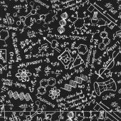 Novelty - Science Chalkboard Black Yardage