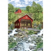 Novelty - Covered Bridge Red Panel