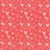 From the Heart - Hearts Red Yardage