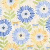 Sing Your Song - Large Sunflowers Yellow Yardage