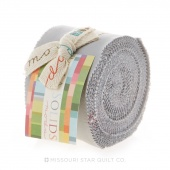 Bella Solids Silver Junior Jelly Roll