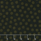 Ebony & Onyx - Clustered Dots Black Yardage