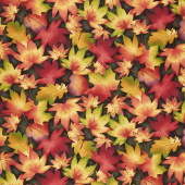 Autumn Time - Leaves Forest Yardage
