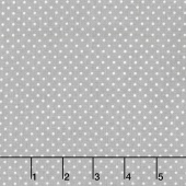 Swiss Dot - White Swiss Dot on Gray Yardage