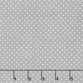 Swiss Dot - White Swiss Dot on Gray Yardage