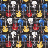 Novelty - Guitar Black Yardage