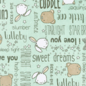 "Cuddle Prints - Rock-A-Bye Honeydew 60"" Minky Yardage"