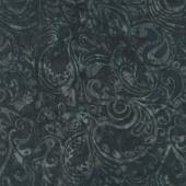 Tonga Batiks - Graphite Paisley Carbon Yardage