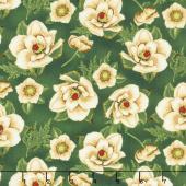 Holiday Lane - Magnolias Green Yardage
