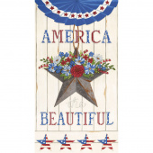 America the Beautiful - America Distressed White Panel